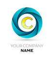letter c logo symbol in the colorful circle vector image vector image