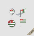 map pins with flag abkhazia vector image