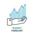 market forecast concept outline icon linear vector image