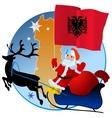 Merry Christmas Albania vector image vector image