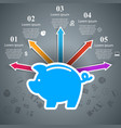 money pig bank piggy icon flat coin save vector image vector image