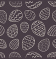 monochrome easter pattern with outline eggs vector image vector image