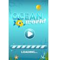 ocean world start screen for game vector image vector image