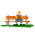old man plays accordion in park vector image vector image