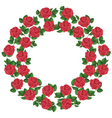 ornament red roses element design vector image