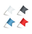 pins flags colored pointer marker flag pin vector image