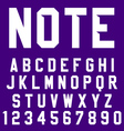 Poster Font vector image