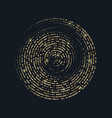 radial golden halftone patterh gold luxury vector image vector image