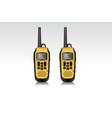 realistic walkie talkie waterproof devices vector image vector image