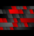 Red and black modern tech corporate background vector image