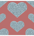 Seamless pattern with mathematics formula on heart vector image vector image