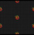 seamless pattern with red ripe tomatoes vector image vector image
