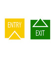 sign of entry and exit vector image