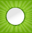 spring green card vector image vector image
