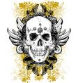 Stained skull grunge illustration vector image