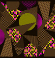 stylized geometric pattern background vector image
