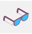 sunglasses isometric icon vector image