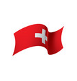 switzerland flag vector image vector image