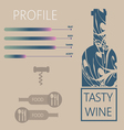 Tasty wine and food restaurant info graphic vector image