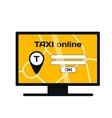 Taxi online website vector image vector image