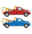 tow trucks template vector image vector image