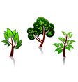 tree icons vector image vector image