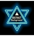 Triangle Border with Light Effects vector image vector image