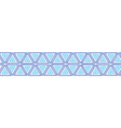 triangles seamless border boho style vector image vector image