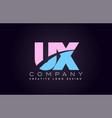 ux alphabet letter join joined letter logo design vector image vector image