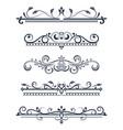vintage ornamental dividers typographic vector image vector image