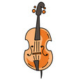 violin cartoon hand drawn image vector image