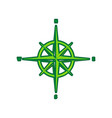 wind rose sign lemon scribble icon on vector image vector image