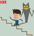 Business man running on the stair - - EPS10 vector image