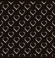 silver hearts seamless pattern brown and vector image