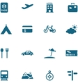 Travel leisure and tourism icon set vector image