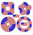 American Flag Design Elements vector image