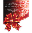 red christmas background with bow vector image