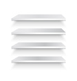 Empty white shelf vector image