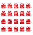 Sale Banners Shaped as Gift Box vector image