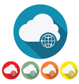 internet cloud web design vector image