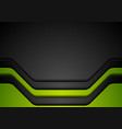 abstract corporate green black background vector image vector image