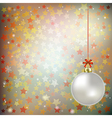 Abstract gray background with Christmas decoration vector image vector image