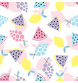 abstract pattern with fruit vector image vector image