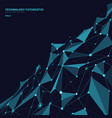 abstract polygonal shapes on dark blue vector image