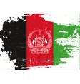 afghan scratched flag vector image