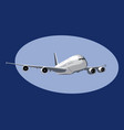 airbus a380 flight a giant commercial jet liner vector image