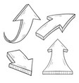 arrows hand drawn sketch vector image vector image
