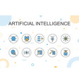 artificial intelligence trendy infographic vector image vector image