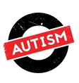 Autism rubber stamp vector image