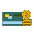 bank credit card coins money vector image